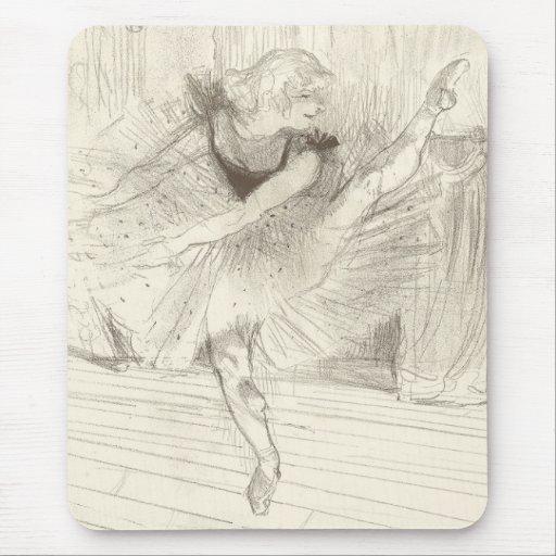 The Ballet Dancer, Toulouse-Lautrec Mouse Pads