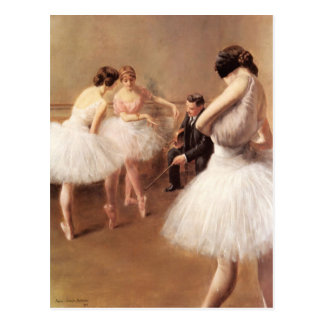 The Ballet Lesson by Pierre Carrier-Belleuse Postcard