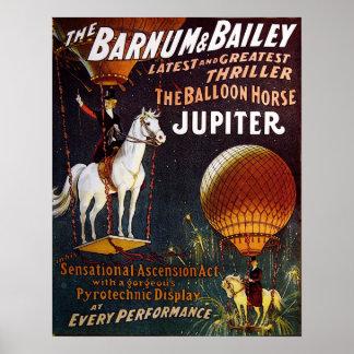 The Balloon Horse Jupiter Circus Poster