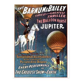 The Balloon Horse Jupiter Vintage Theater Postcard
