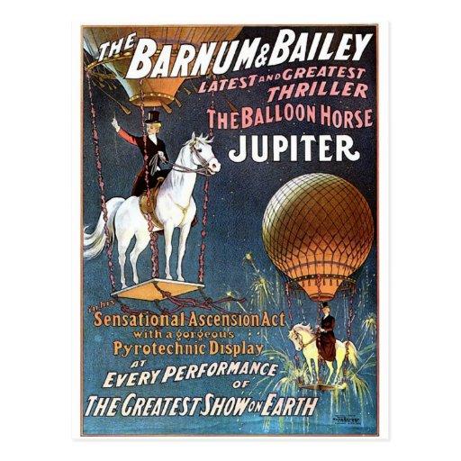 The Balloon Horse Jupiter Vintage Theater Post Cards
