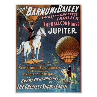 The Balloon Horse Jupiter Vintage Theater Poster