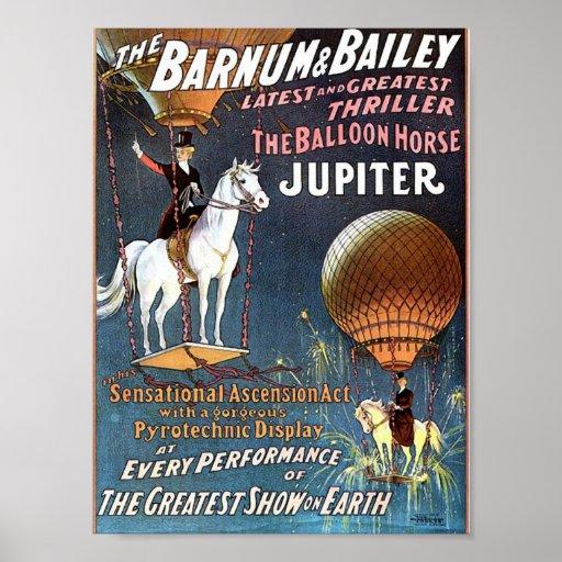 The Balloon Horse Jupiter Vintage Theatre Poster
