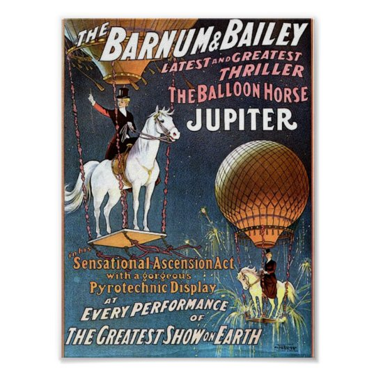 The Balloon Horse Jupiter Vintage Theatre Poster