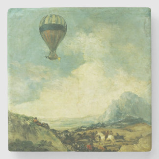 The Balloon or, The Ascent of the Montgolfier Stone Beverage Coaster