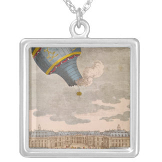 The Ballooning Experiment at the Chateau Silver Plated Necklace