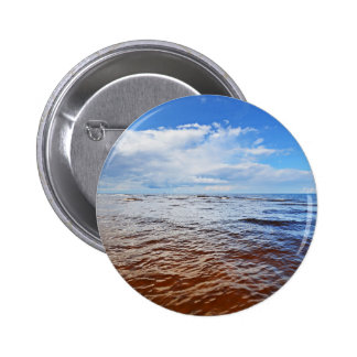 The Baltic Sea At Noon 6 Cm Round Badge