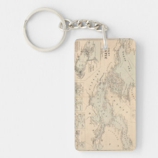 The Baltic Sea Double-Sided Rectangular Acrylic Key Ring