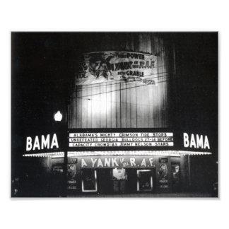 The Bama Theatre around 1942 Photographic Print