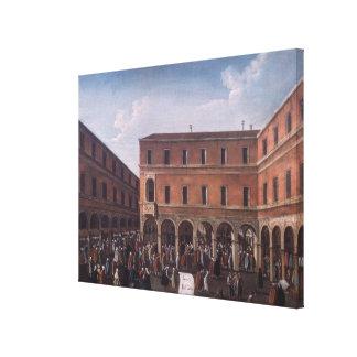 The Bancho del Giro in the Rialto, Venice Canvas Print