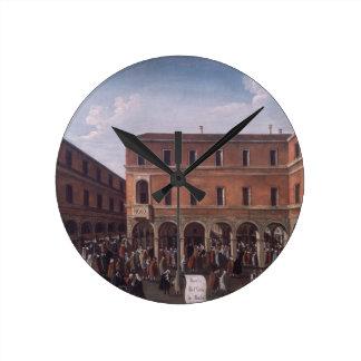 The Bancho del Giro in the Rialto, Venice Round Clock