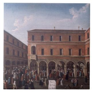 The Bancho del Giro in the Rialto, Venice Tile