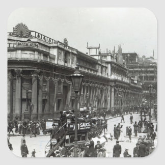 The Bank of England decorated for Queen Square Sticker