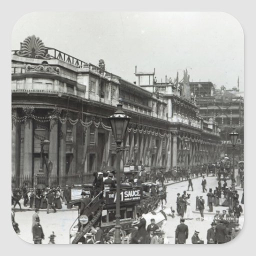 The Bank of England decorated for Queen Stickers