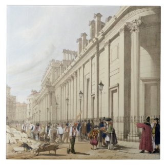 The Bank of England looking towards the Mansion Ho Tile
