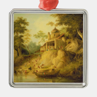 The Banks of the Ganges, c.1820-30 (oil on canvas) Christmas Ornament