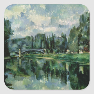 The Banks of the Marne at Creteil, c.1888 Square Sticker