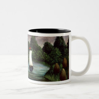 The Banks of the Oise, 1905 (oil on canvas) Two-Tone Coffee Mug