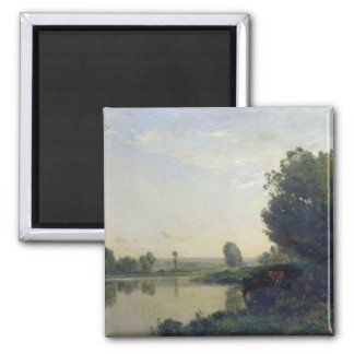 The Banks of the Oise, Morning, 1866 Magnet