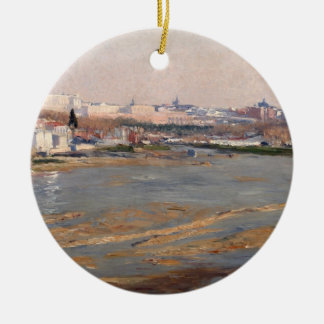 The Banks of the River Manzanares, 1912 (oil on ca Christmas Ornament