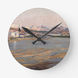 The Banks of the River Manzanares, 1912 (oil on ca Wallclocks