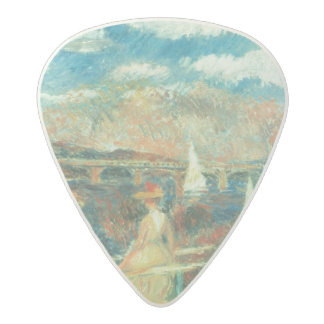 The banks of the Seine at Argenteuil, 1880 Acetal Guitar Pick