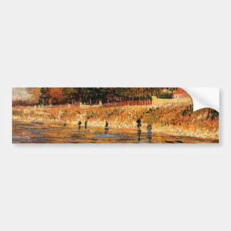 The Banks of the Seine by Vincent van Gogh Bumper Sticker