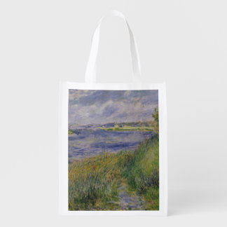The Banks of the Seine Champrosay 1876 Reusable Grocery Bag