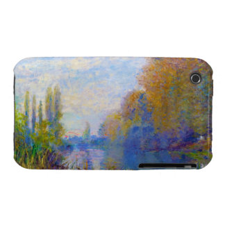The Banks of The Seine in Autumn Claude Monet iPhone 3 Cover