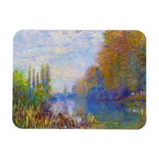 The Banks of The Seine in Autumn Claude Monet Rectangular Photo Magnet