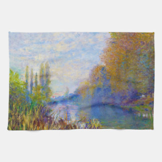 The Banks of The Seine in Autumn Claude Monet Tea Towel