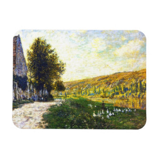 The Banks of the Seine, Lavacourt Claude Monet Rectangular Photo Magnet