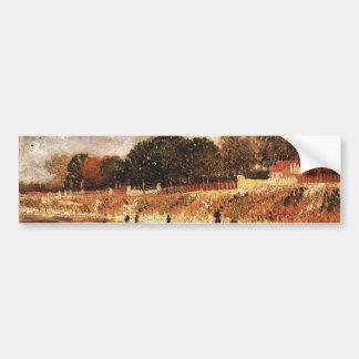 The Banks of the Seine Vincent van Gogh Bumper Sticker