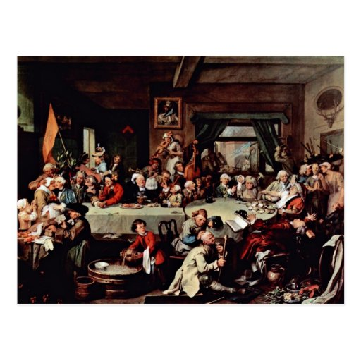 """The Banquet"""" By Hogarth William (Best Quality) Postcard"""