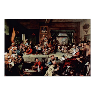 """The Banquet"""" By Hogarth William (Best Quality) Poster"""