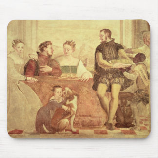 The Banquet detail of figures at table 1570 Mouse Pad