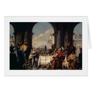 The Banquet of Anthony and Cleopatra, c.1744 (oil Card