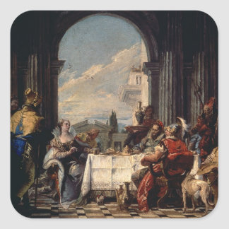 The Banquet of Anthony and Cleopatra, c.1744 (oil Square Sticker