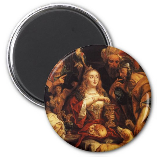 The Banquet of Cleopatra 6 Cm Round Magnet