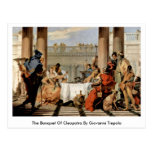 The Banquet Of Cleopatra By Giovanni Tiepolo Post Card
