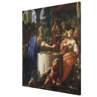 The Banquet of Mark Anthony (83-30 BC) and Cleopat Gallery Wrapped Canvas