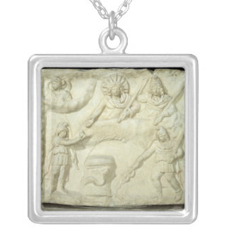 The Banquet of Mithras and the Sun Silver Plated Necklace