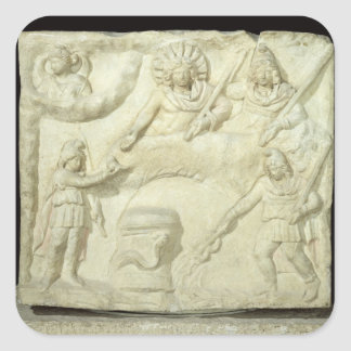 The Banquet of Mithras and the Sun Square Sticker