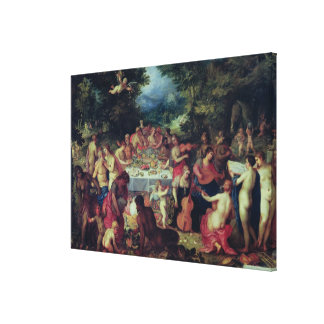 The Banquet of the Gods Stretched Canvas Print
