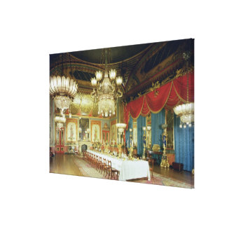The Banqueting Room, 1815-23 Canvas Print