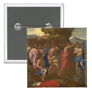 The Baptism of Christ, 1641-42 15 Cm Square Badge