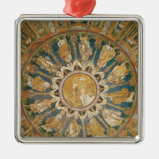 The Baptism of Christ 2 Silver-Colored Square Decoration