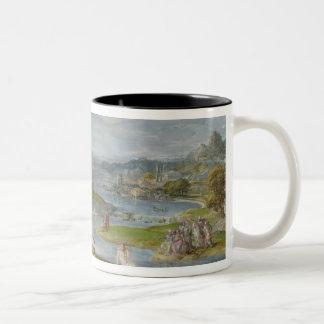 The Baptism of Christ 2 Two-Tone Coffee Mug
