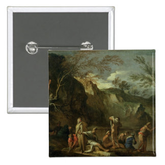 The Baptism of Christ 15 Cm Square Badge