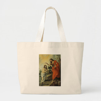 The Baptism of Christ by Bartolome Esteban Murillo Canvas Bags